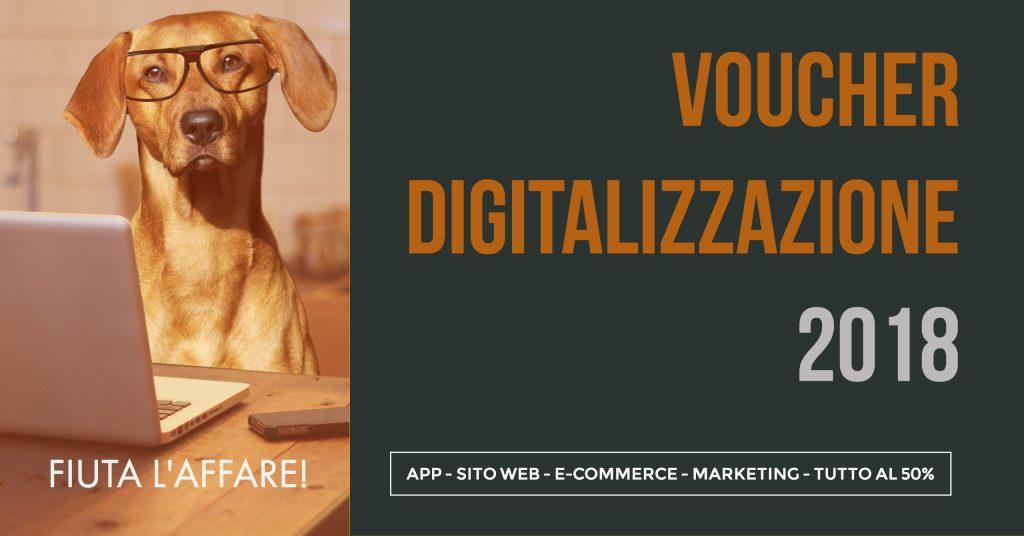 voucher dicitalizzazione 2018 - app, sito internet, marketing, e-coomerce al 50%